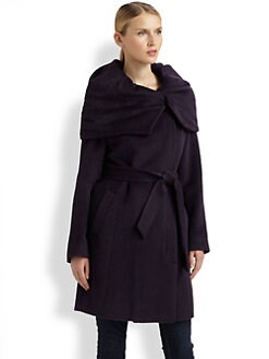 Cole Haan - Oversized-Collar Coat