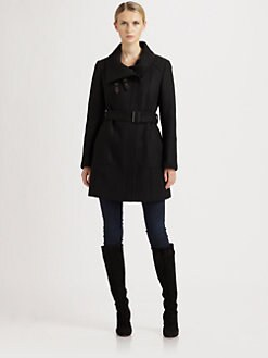Cole Haan - Belted Wool-Blend Coat