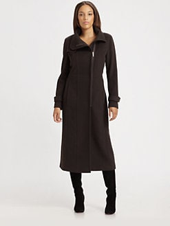 Rainforest - Wool/Cashmere Long Coat
