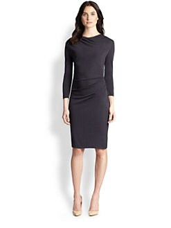 Peserico - Ruched Cowlneck Dress