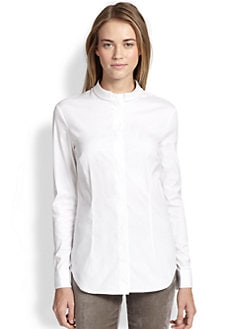 Peserico - Embellished Button-Front Shirt