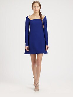 Valentino - Square-Neck Dress