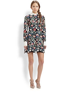 Valentino - Floral Tapestry Dress