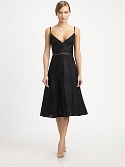Valentino - Silk Camisole Strap Dress