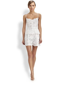 Valentino - Belted Lace Camisole Top