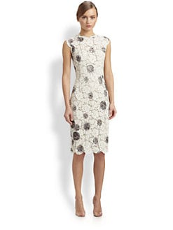 Valentino - Floral Lace Dress