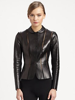 Valentino - Ajour Leather Jacket