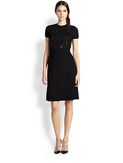 Valentino - Beaded Knit Dress