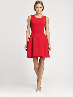 Valentino - Sleeveless Ribbed Dress