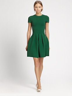 Valentino - Ribbed Open-Back Dress