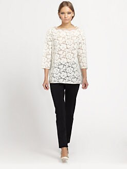 Valentino - Organza Lace Top