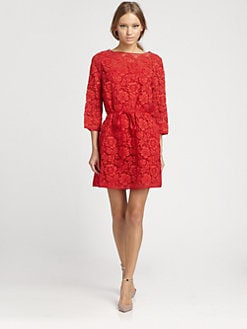 Valentino - Lace Overlay Dress