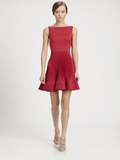 Valentino - Techno Couture Plissé Dress