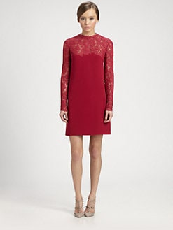 Valentino - Lace Bodice Dress