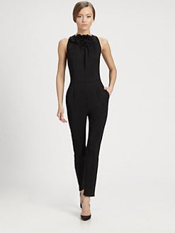 Valentino - Techno Couture Rosette Jumpsuit