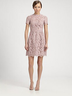 Valentino - Heavy Lace Bambolina Dress