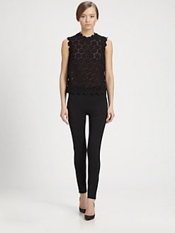 Valentino - Rose Guipure Lace Top