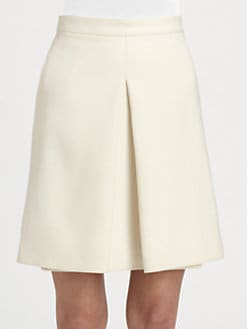 Valentino - Inverted Pleat A-Line Skirt