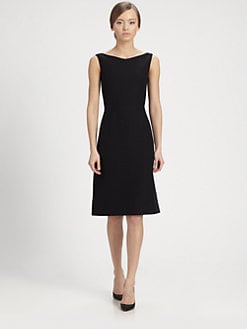 Valentino - Wool & Silk Sheath Dress