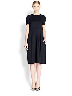 Jil Sander - Seam-Detail Short-Sleeve Dress