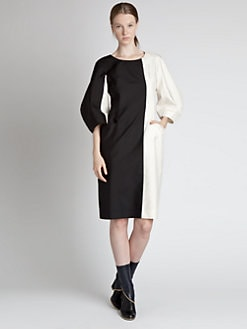 Jil Sander - Silk Colorblock Dress