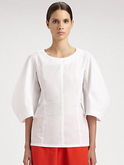 Jil Sander - Nozze Cotton Twill Top