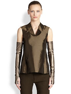 Jil Sander - Sleeveless Silk Top