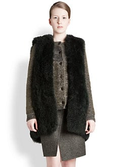 Jil Sander - Dyed Alpaca Fur Vest