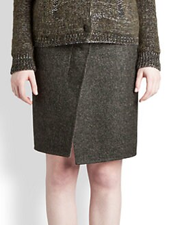 Jil Sander - Asymmetric Wrap-Effect Alpaca-Blend Skirt