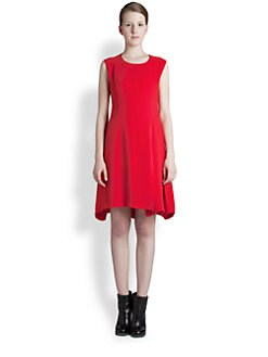 Jil Sander - Flared Silk Crepe Dress
