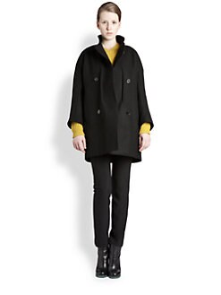 Jil Sander - Double-Breasted Wool-Blend Cocoon Coat