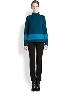 Jil Sander - Wool & Cashmere Colorblock Ribbed Sweater