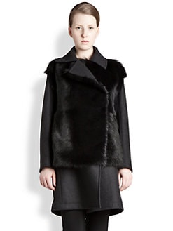 Jil Sander - Shearling-Trimmed Coat