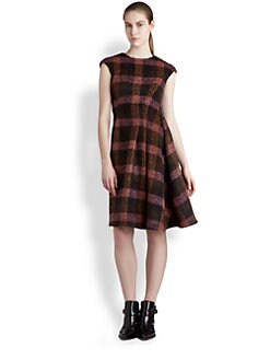 Jil Sander - Mohair Checked Dress
