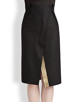 Jil Sander - Asymmetrical Stripe Detail Skirt