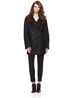Jil Sander - Double-Breasted Stripe Coat