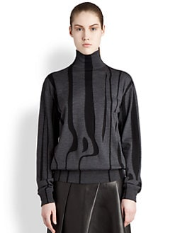 Jil Sander - Wool Animal Stripe Sweater