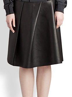 Jil Sander - Asymmetrical Leather Skirt