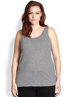 Eileen Fisher, Sizes 14-24 - Striped Linen Tank