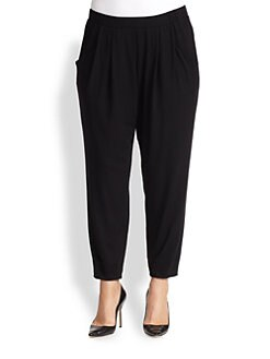 Eileen Fisher, Sizes 14-24 - Jersey Slouchy Ankle Pants