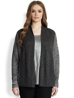 Eileen Fisher, Sizes 14-24 - Linen Straight Cardigan