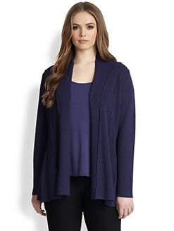 Eileen Fisher, Sizes 14-24 - Wool Shaped Cardigan