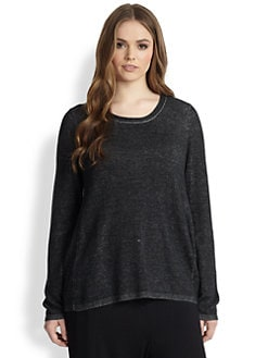 Eileen Fisher, Sizes 14-24 - Scoopneck Tunic
