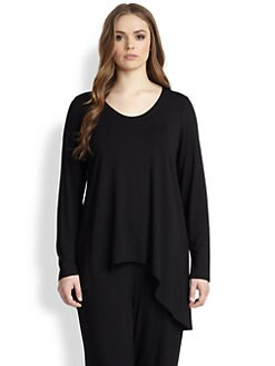 Eileen Fisher, Sizes 14-24 - Shaped V-Neck Tee