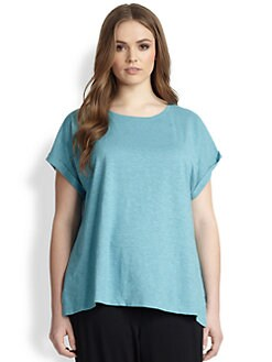 Eileen Fisher, Sizes 14-24 - Scoopneck Tee
