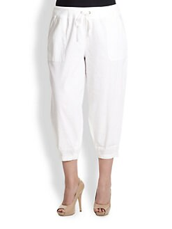 Eileen Fisher, Sizes 14-24 - Slouchy Capri Pants