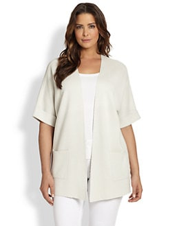 Eileen Fisher, Sizes 14-24 - Silk/Cotton Long Jacket
