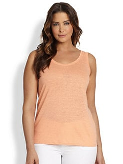 Eileen Fisher, Sizes 14-24 - Long Linen Tank