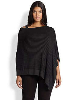 Eileen Fisher, Sizes 14-24 - Striped Poncho