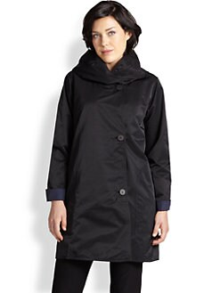 Eileen Fisher, Sizes 14-24 - Reversible Hooded Coat